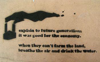 Explain to Future Generations stencil