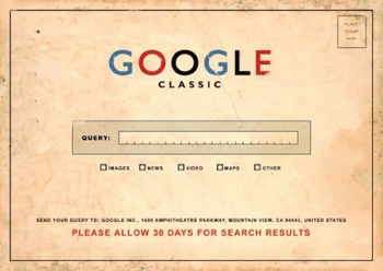 Google Classic faux page