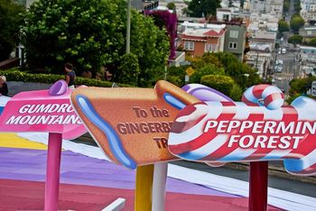 Candyland tribute signs